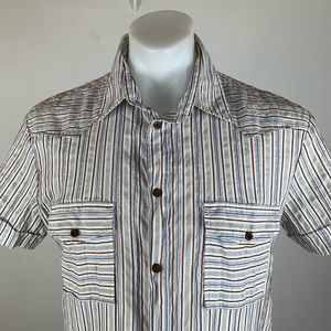 Diesel Striped Embroidered Shirt
